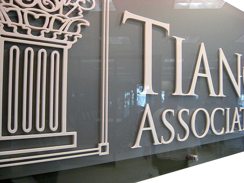 Tiano Logo Sign