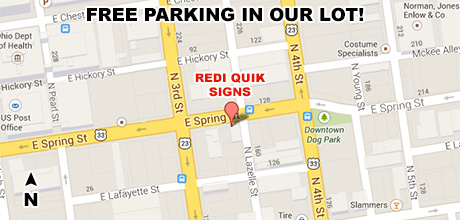 Redi Quik Signs Downtown Columbus Ohio Contact Information - Us call sign map