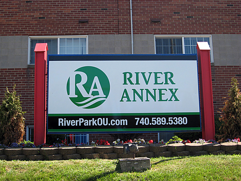 River Annex Sign