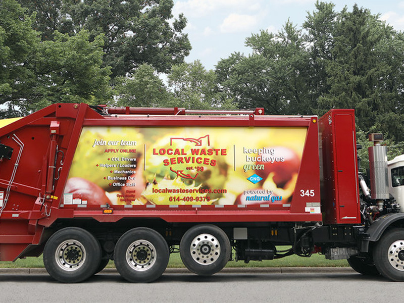 Local Waste Services Truck